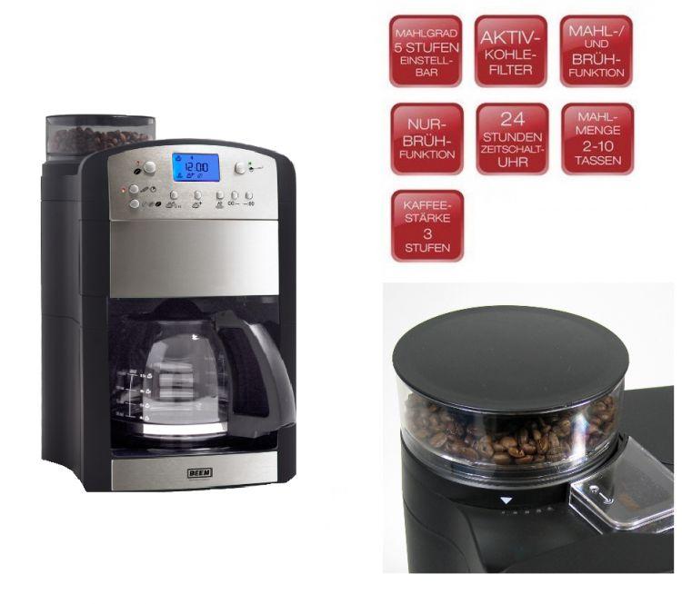 beem kaffeemaschine fresh aroma perfect thermostar kaffemaschine mit mahlwerk ebay. Black Bedroom Furniture Sets. Home Design Ideas