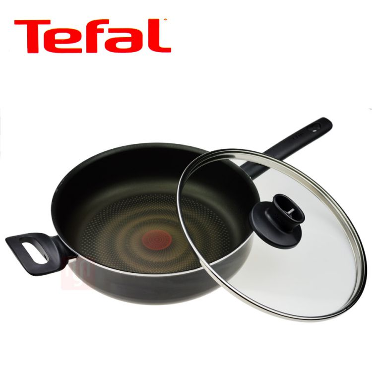 tefal bratpfanne mit glasdeckel 28cm thermo spot ebay. Black Bedroom Furniture Sets. Home Design Ideas