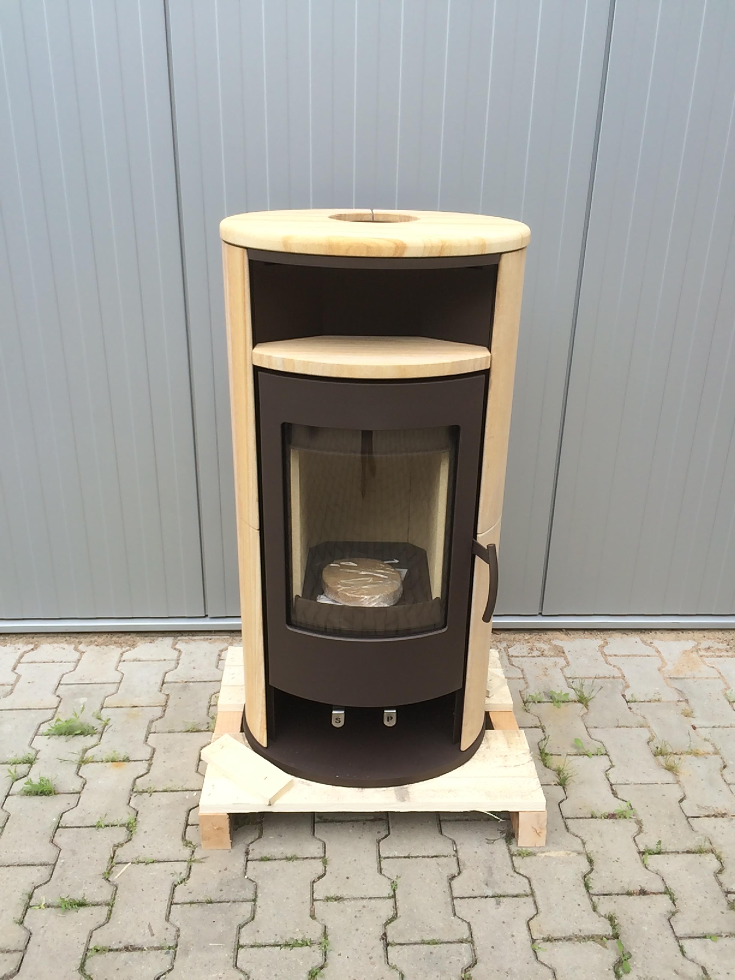 h m kaminofen basic 2 0 braun sandstein 2 wahl ebay. Black Bedroom Furniture Sets. Home Design Ideas