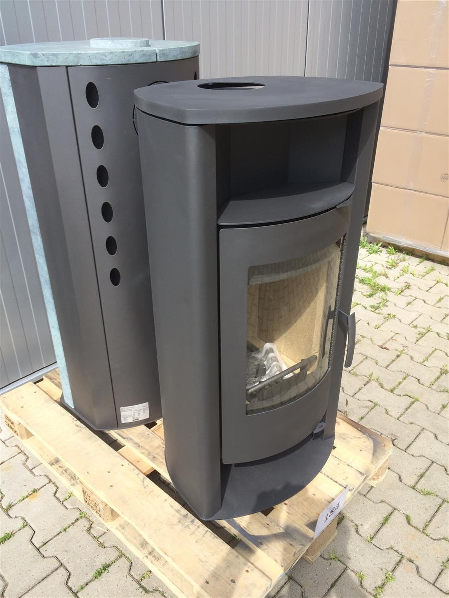 kamin kaminofen ofen thermia barcelona v3 stahl grau 2 wahl 7kw ebay. Black Bedroom Furniture Sets. Home Design Ideas