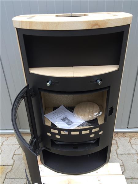 kamin kaminofen thermia borneo v3 sandstein 2 wahl ebay. Black Bedroom Furniture Sets. Home Design Ideas