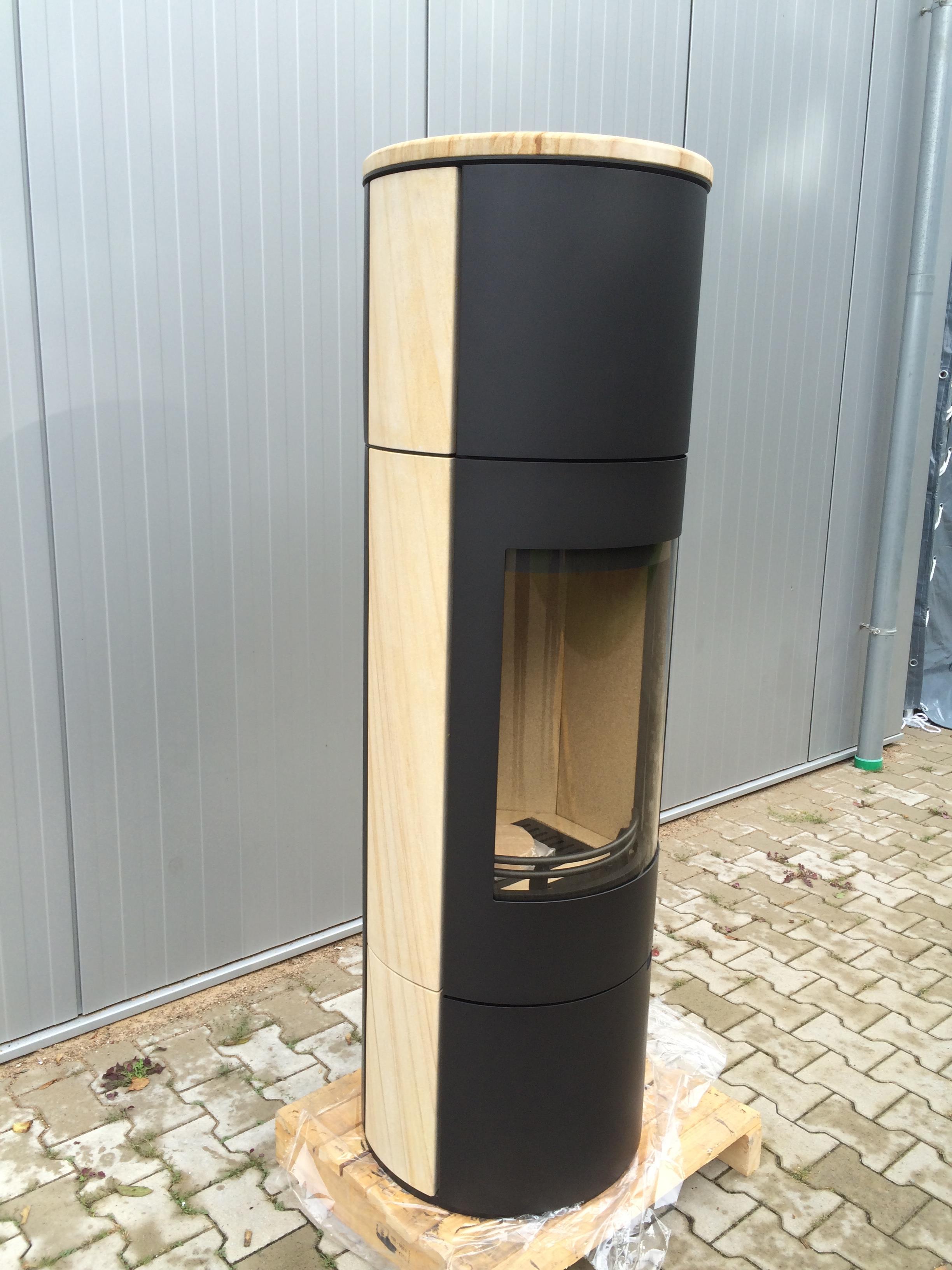 h m kaminofen evo xl sandstein schwarz 2 wahl ebay. Black Bedroom Furniture Sets. Home Design Ideas