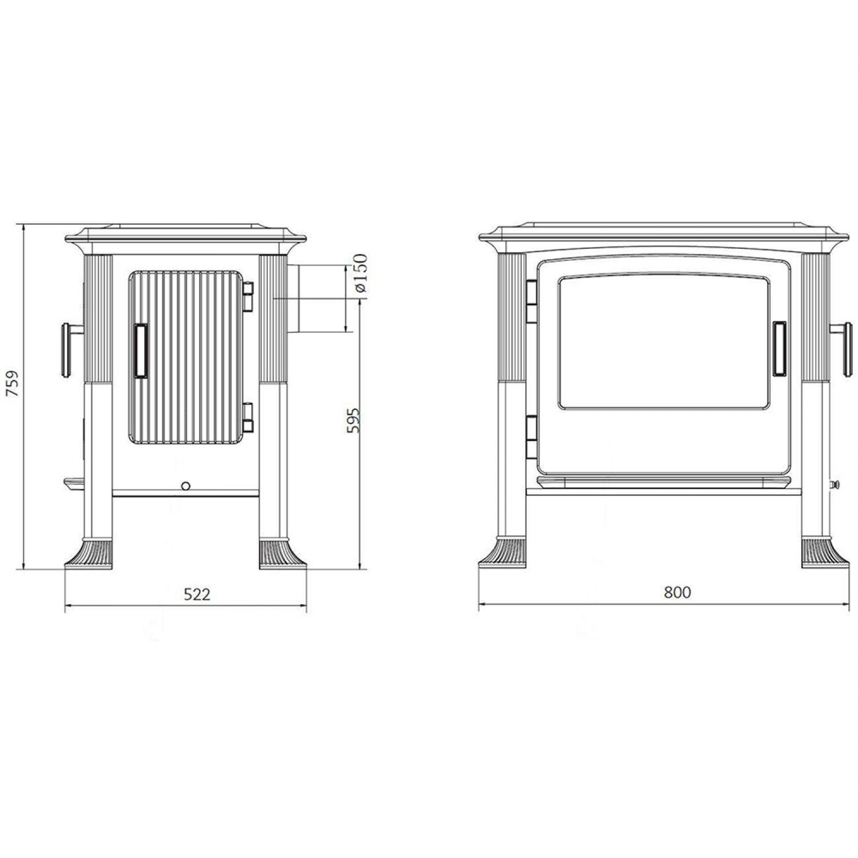 brunner iron dog no 4 gussofen kamin kaminofen k chenherd. Black Bedroom Furniture Sets. Home Design Ideas