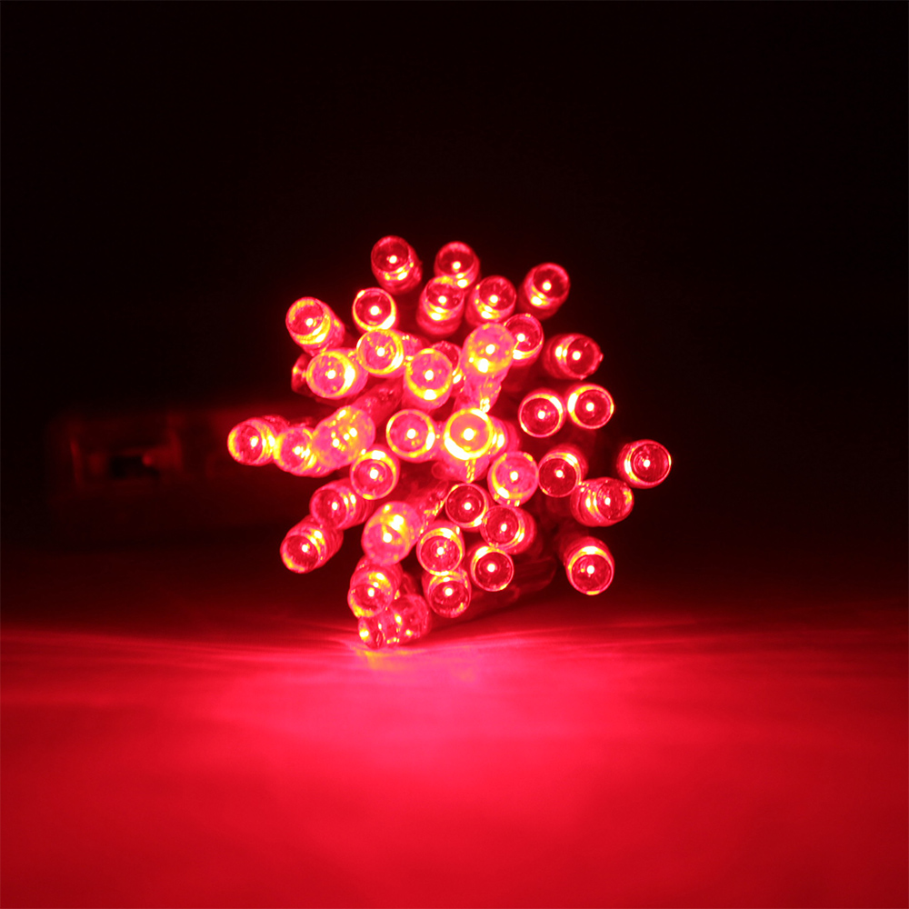 led lichterkette rot 4m 40 leds batteriebetrieben akku batterie 3 aa 4 5v ebay. Black Bedroom Furniture Sets. Home Design Ideas