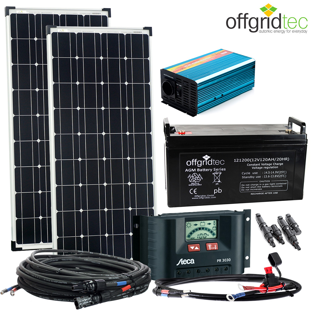 solaranlage autark m master 200w solar 1000w ac 122ah 12v. Black Bedroom Furniture Sets. Home Design Ideas