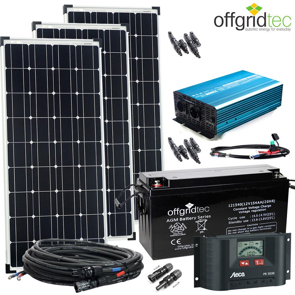 12V Solaranlage Autark XL-Master 300W Solar - 1500W AC ...