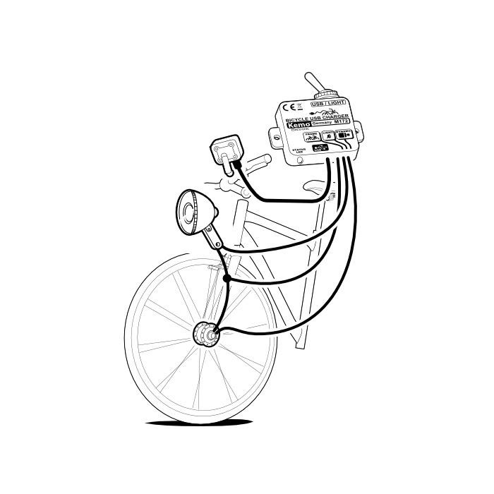 kemo fahrrad laderegler usb mini b regler bike akku. Black Bedroom Furniture Sets. Home Design Ideas