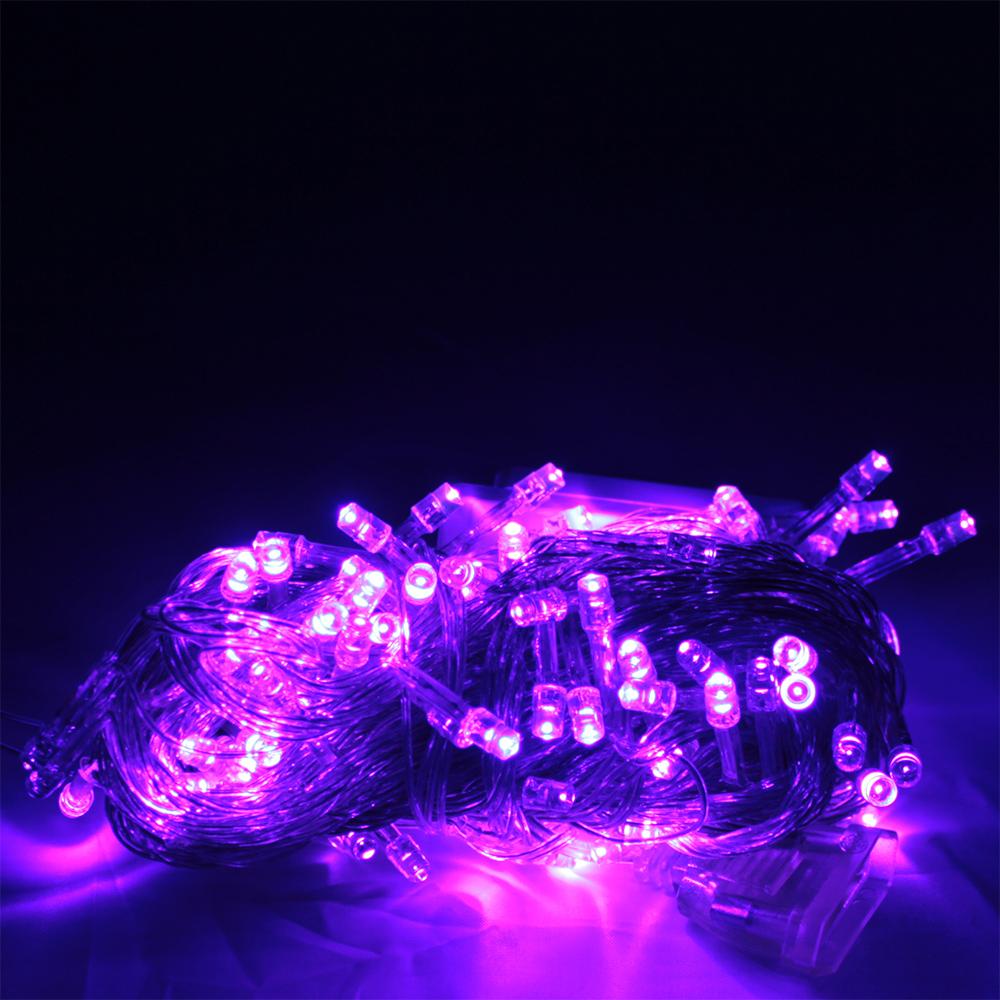 2x 100 led lichterkette 10m lila 8 programme weihnachtsbaum deko ebay - Lichterkette lila ...