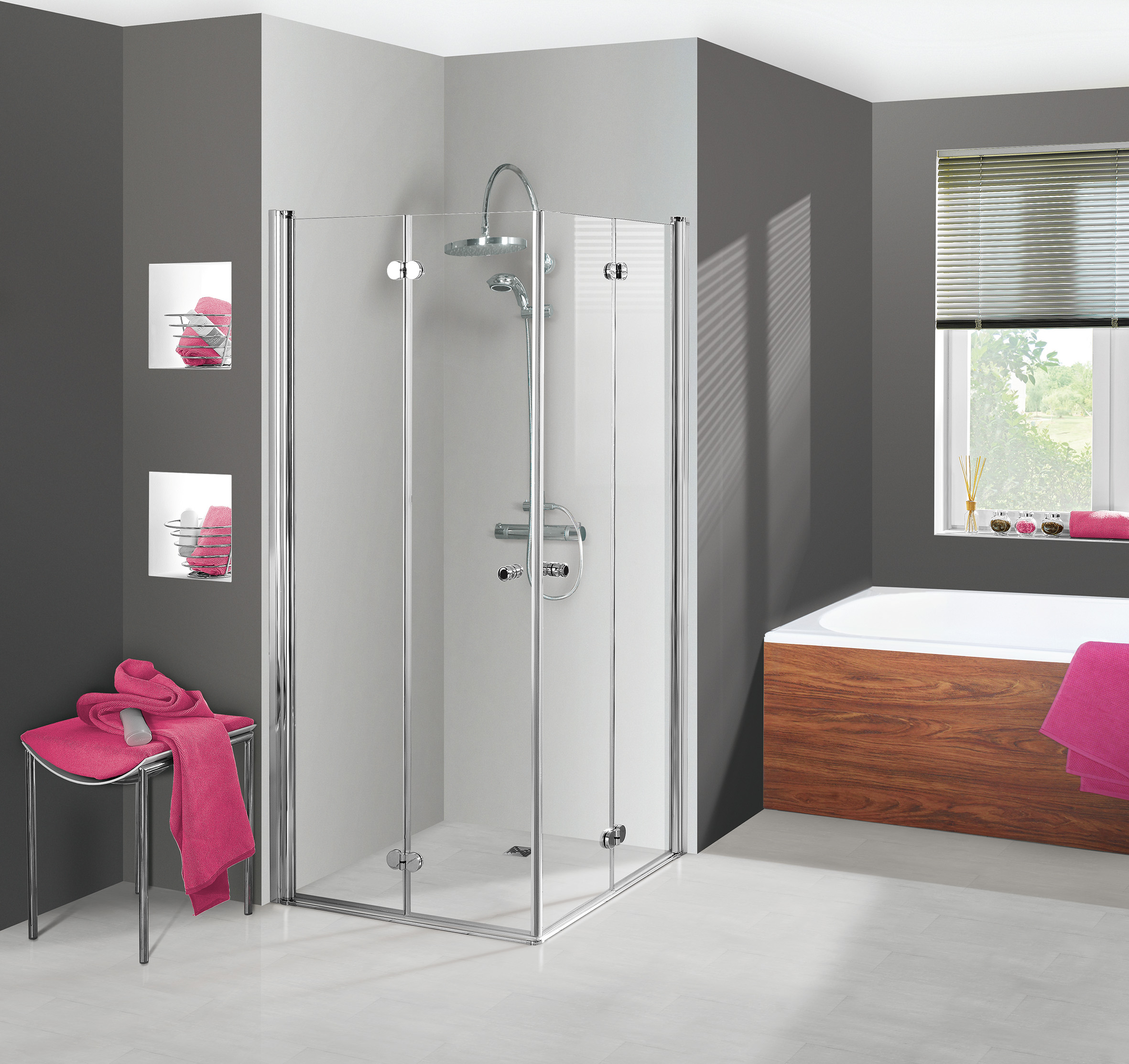 duschkabine dusche elana komfort dreh faltt r eckeinstieg 100x100x200 ebay. Black Bedroom Furniture Sets. Home Design Ideas
