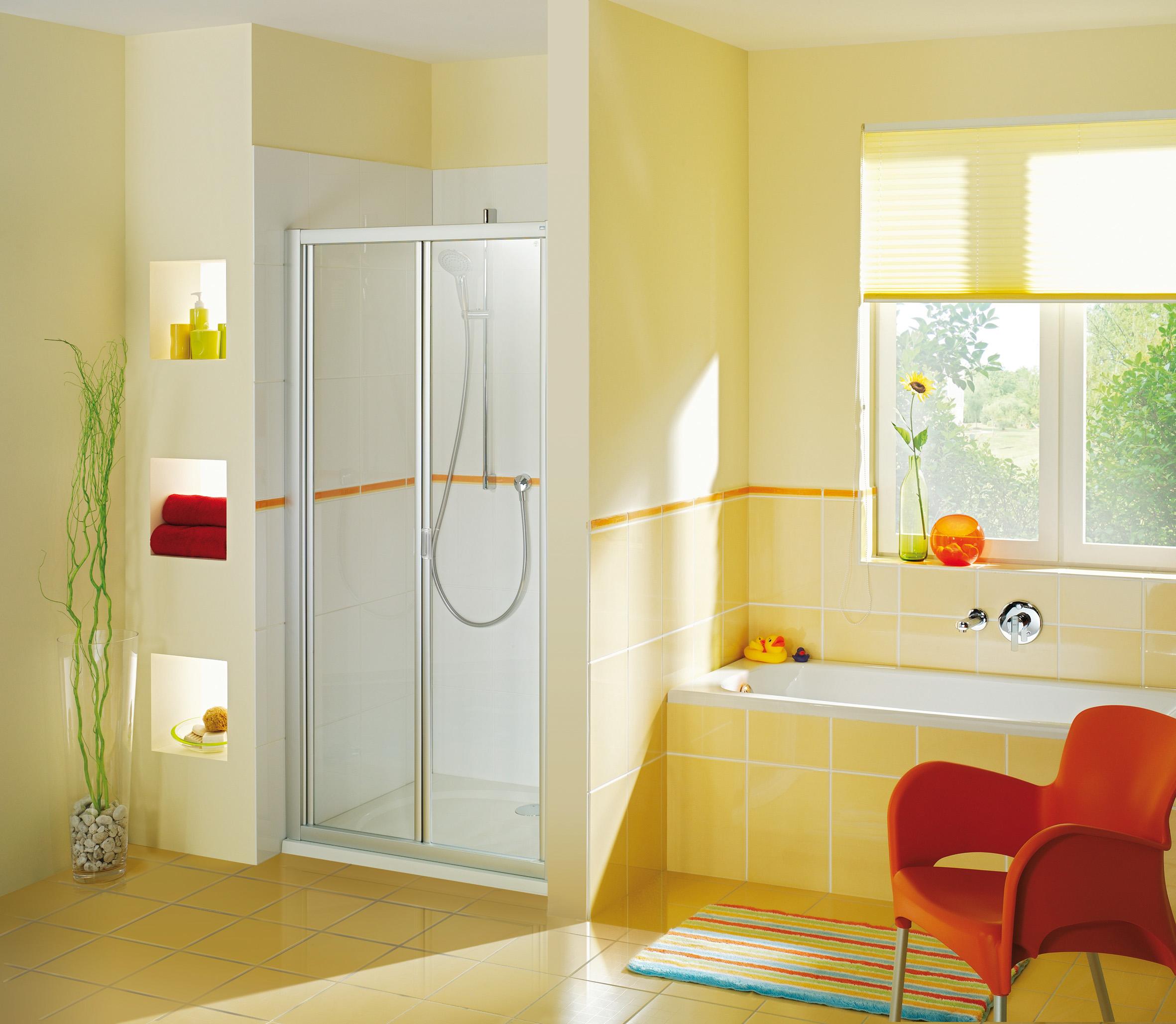 Faltt?r Dusche Nische : Duschkabine Dusche FARA Faltt?r Nische Kunstglas 75×185