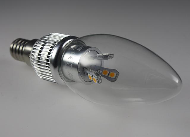 dimmbare smd led e14 kerzen e spar birne leuchte lampe klarglas 5w 40w warm wei. Black Bedroom Furniture Sets. Home Design Ideas
