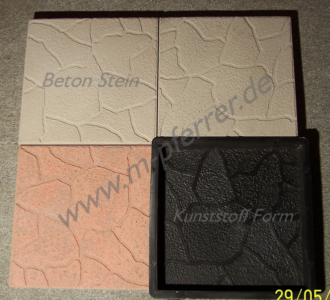 2 schalungsformen f r terrassenplatten bruchsteinoptik ebay. Black Bedroom Furniture Sets. Home Design Ideas