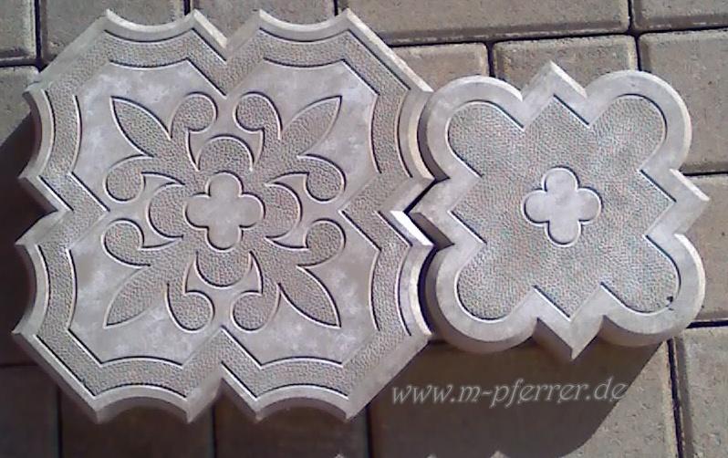 2 giessformen f r dekorative orient platten nr 200 beton form schablone molds ebay. Black Bedroom Furniture Sets. Home Design Ideas
