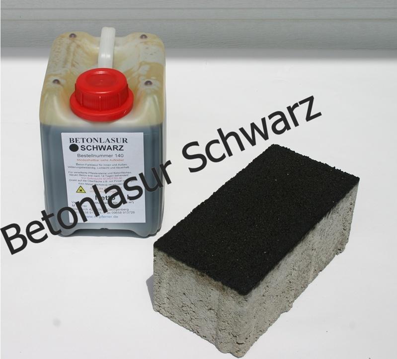 100 ml farblasur schwarz lasur betonfarbe testprobe ebay. Black Bedroom Furniture Sets. Home Design Ideas