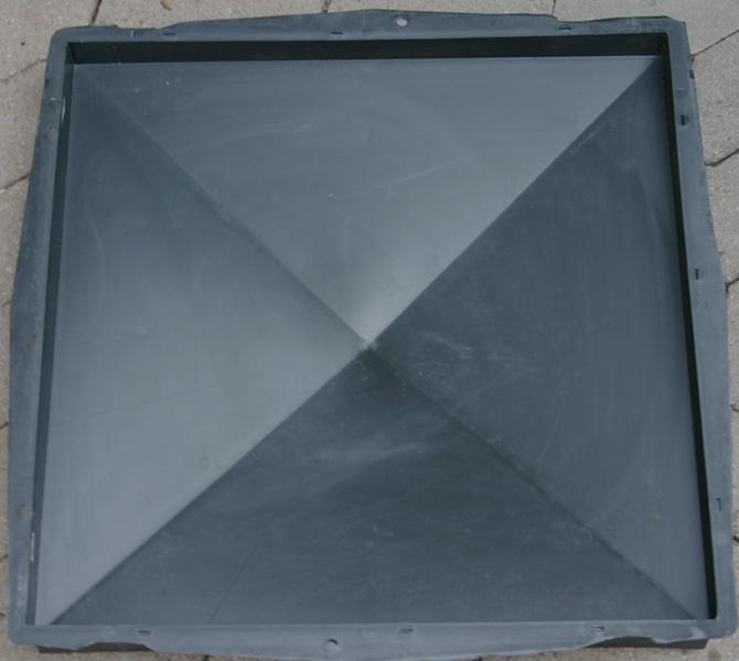 pfeilerabdeckung 49 x 49 cm glatt schalungsform 371 pfosten gie form ebay. Black Bedroom Furniture Sets. Home Design Ideas