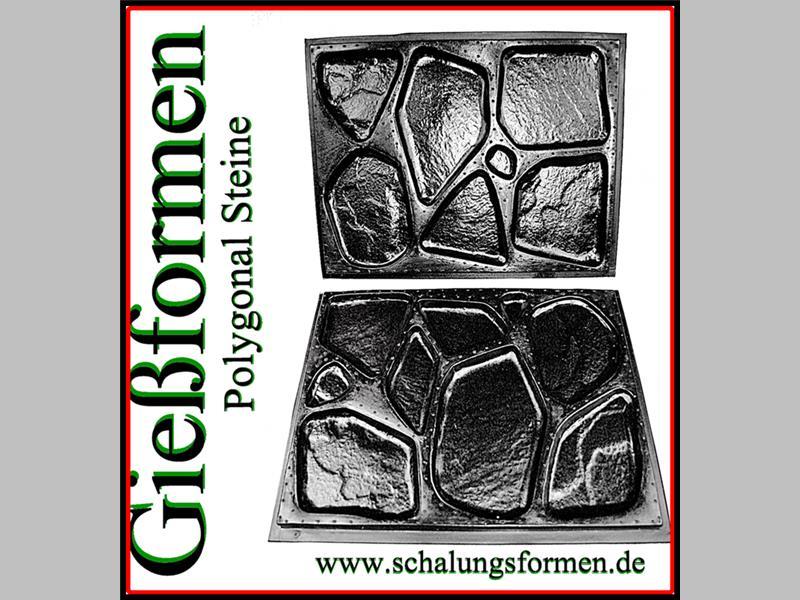 neu 1 paar gie formen mit 16 unterschiedlichen strukturen f r polygonalsteine ebay. Black Bedroom Furniture Sets. Home Design Ideas