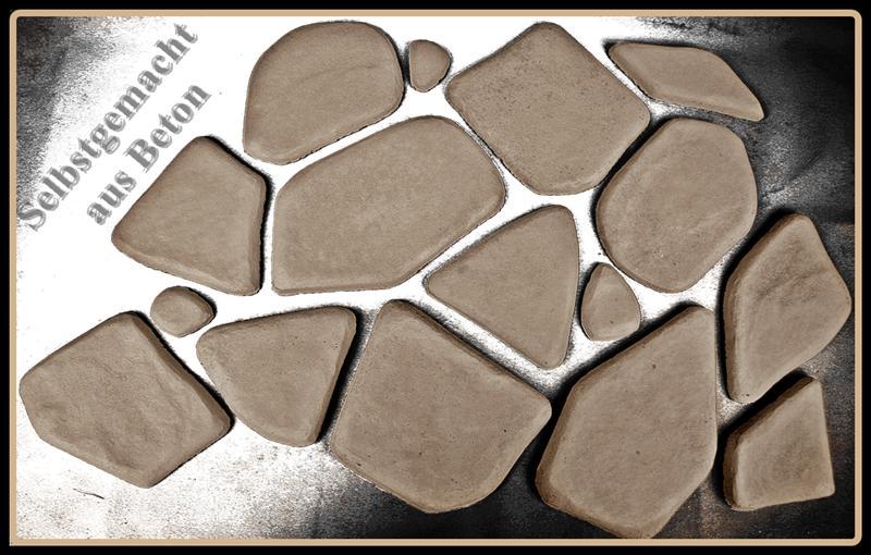 giessform mit 7 unterschiedlichen strukturen f r polygonalsteine 300 2 ebay. Black Bedroom Furniture Sets. Home Design Ideas