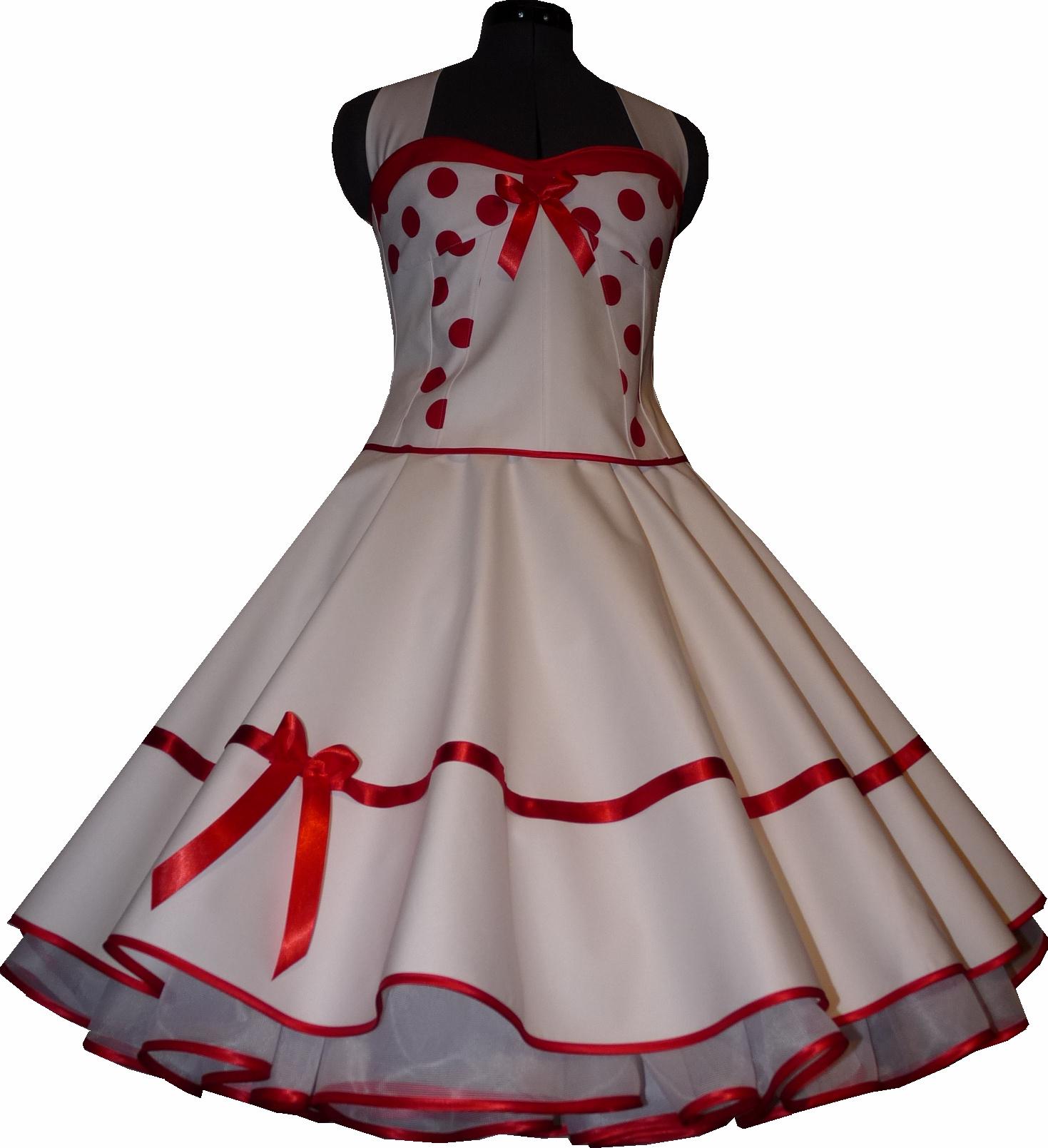50er jahre brautkleid petticoat kleid wei korsage rote oder schwarze punkte. Black Bedroom Furniture Sets. Home Design Ideas