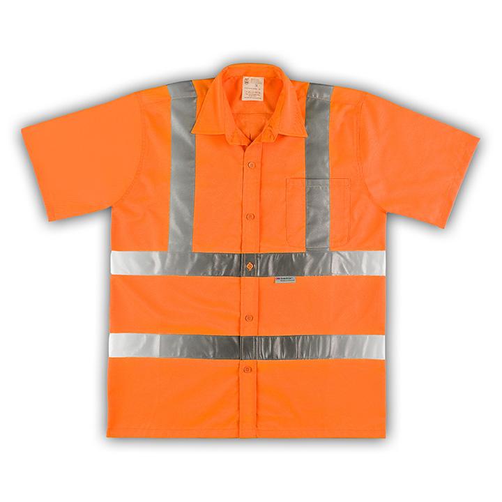 warnschutzhemd hemd warnweste mit tasche gelb orange ebay. Black Bedroom Furniture Sets. Home Design Ideas