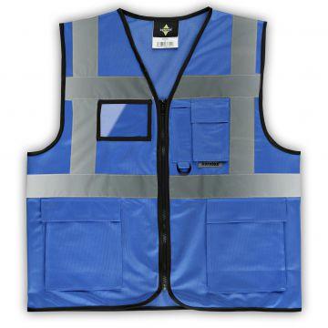 korntex funktions waistcoats warnweste mit taschen und rei verschluss blau ebay. Black Bedroom Furniture Sets. Home Design Ideas