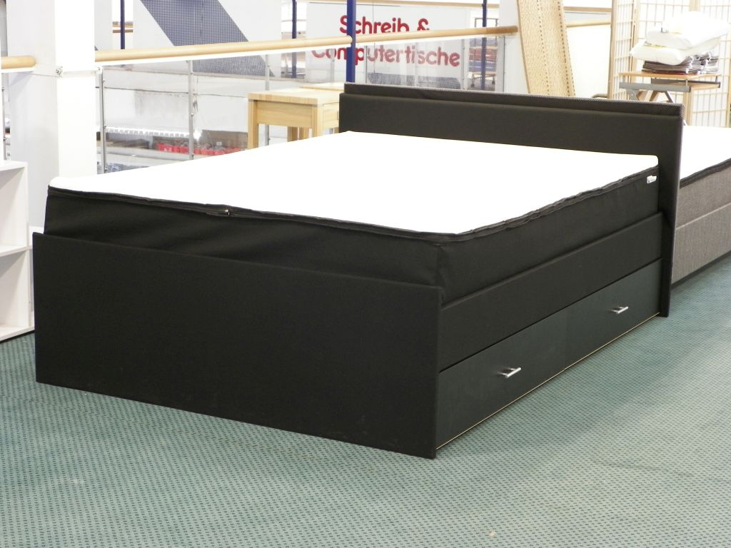 boxspringbett hotelbett schubladenbett bett federkern 120x200 b060040 ebay. Black Bedroom Furniture Sets. Home Design Ideas