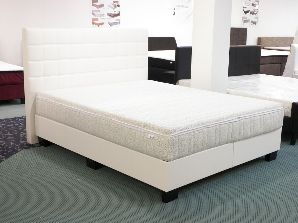 boxspringbett hotelbett polsterbett weiss amerikanisches bett 180x200 box74 a10 ebay. Black Bedroom Furniture Sets. Home Design Ideas