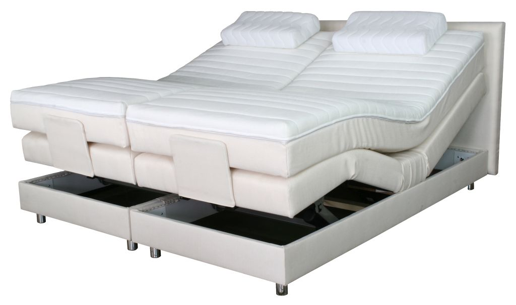 boxspringbett bett polsterbett elektrisch verstellbar 140x200cm 231751 ebay. Black Bedroom Furniture Sets. Home Design Ideas