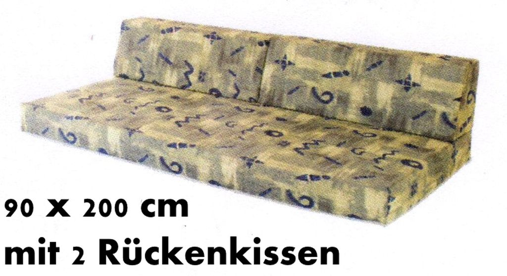 jugendbett matratze mit r ckenkissen passend f r betten 90 x 200 cm ebay. Black Bedroom Furniture Sets. Home Design Ideas