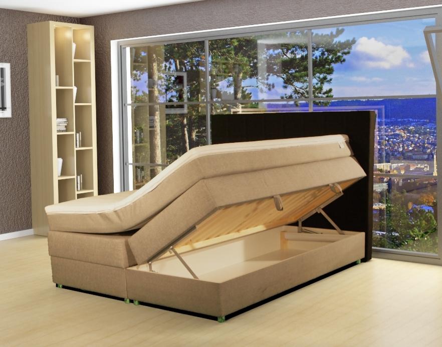 boxspringbett bettkasten stauraum bett king sice. Black Bedroom Furniture Sets. Home Design Ideas