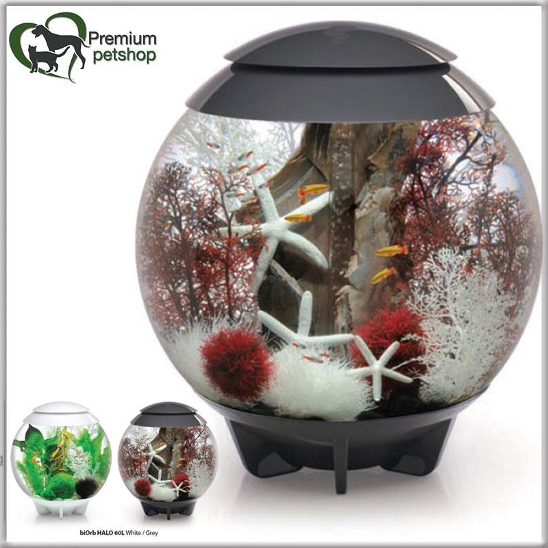 biorb halo 60 komplett kugelaquarium aquarium 60l mondlicht led und 3d effekt ebay. Black Bedroom Furniture Sets. Home Design Ideas