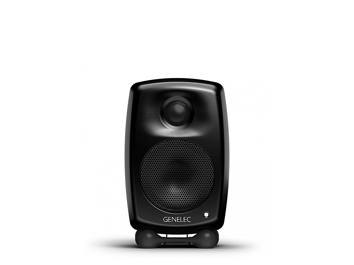 genelec g one 2 wege aktiv lautsprecher schwarz paar ebay. Black Bedroom Furniture Sets. Home Design Ideas