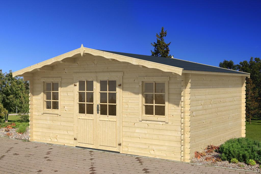 gartenhaus daniel 400 x 300 cm 40 mm doppelnut. Black Bedroom Furniture Sets. Home Design Ideas