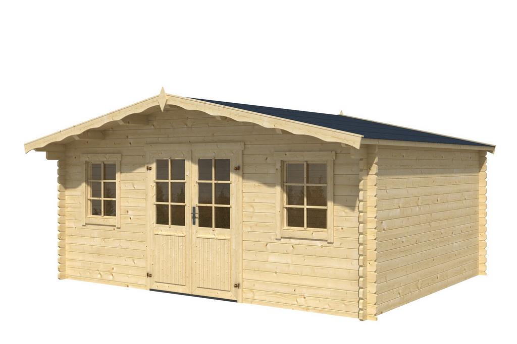 gartenhaus dennis 400 x 400 cm 40 mm doppelnut inklusive fu boden ebay. Black Bedroom Furniture Sets. Home Design Ideas