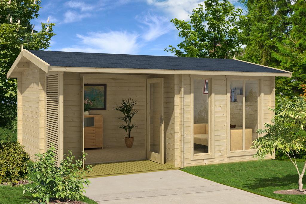 gartenhaus brighton 44 540 x 390 cm 44 mm doppelnut. Black Bedroom Furniture Sets. Home Design Ideas