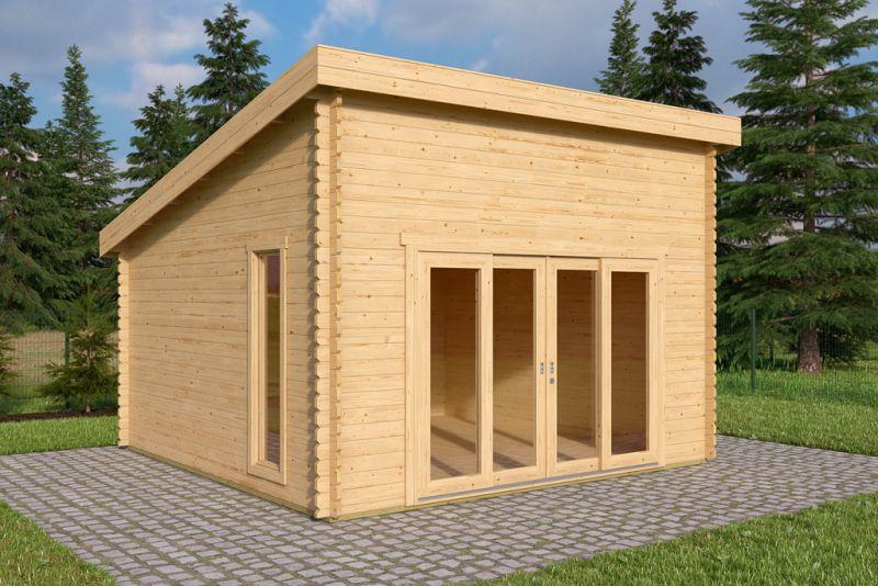 Raters Gartenhaus gartenhaus gerätehaus marlon 1 pultdach 434x434 cm doppel nut feder