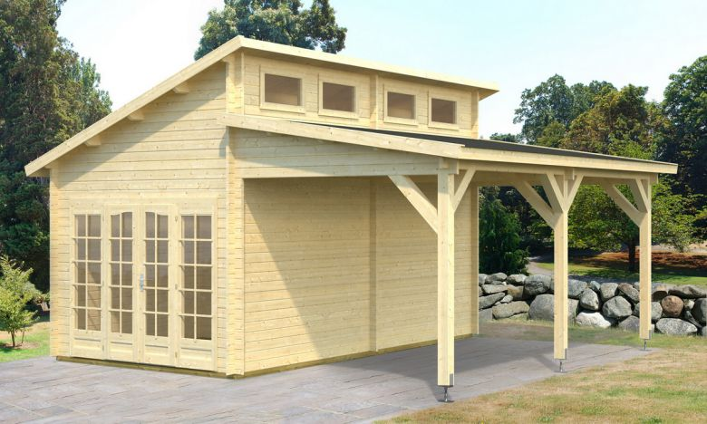 70mm gartenhaus boris 600x570 cm doppelnut carport gartenhaus kombination ebay. Black Bedroom Furniture Sets. Home Design Ideas