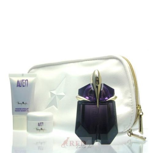 thierry mugler alien set eau de parfum edp 30 ml dg 30 ml bc 15 ml tasche. Black Bedroom Furniture Sets. Home Design Ideas