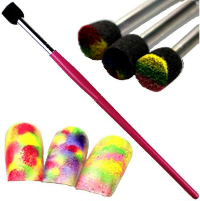 1 stk sponge schwamm pinsel f r nailart mit flitter. Black Bedroom Furniture Sets. Home Design Ideas