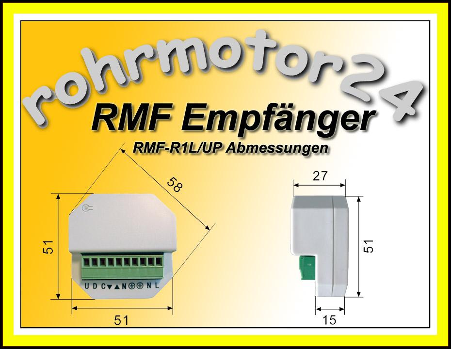 rmf funk mini funkempf nger funkmodul funkschalter unterputz up f r licht lampen. Black Bedroom Furniture Sets. Home Design Ideas