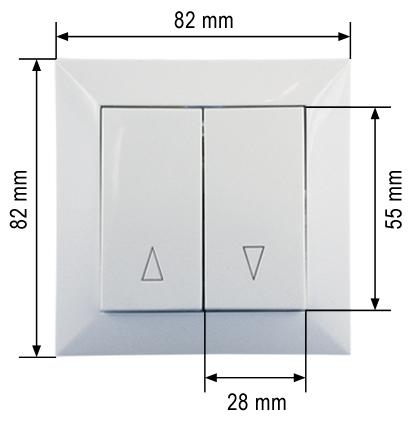 wipptaster taster ap o up steuerung rohrmotor rolladen. Black Bedroom Furniture Sets. Home Design Ideas