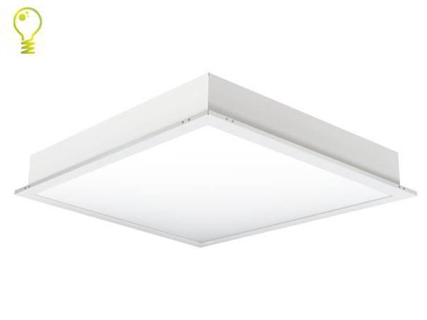 led panel m osram leds 62x62 dimmbar neutralwei 4200lm direktstrahler led ras ebay. Black Bedroom Furniture Sets. Home Design Ideas