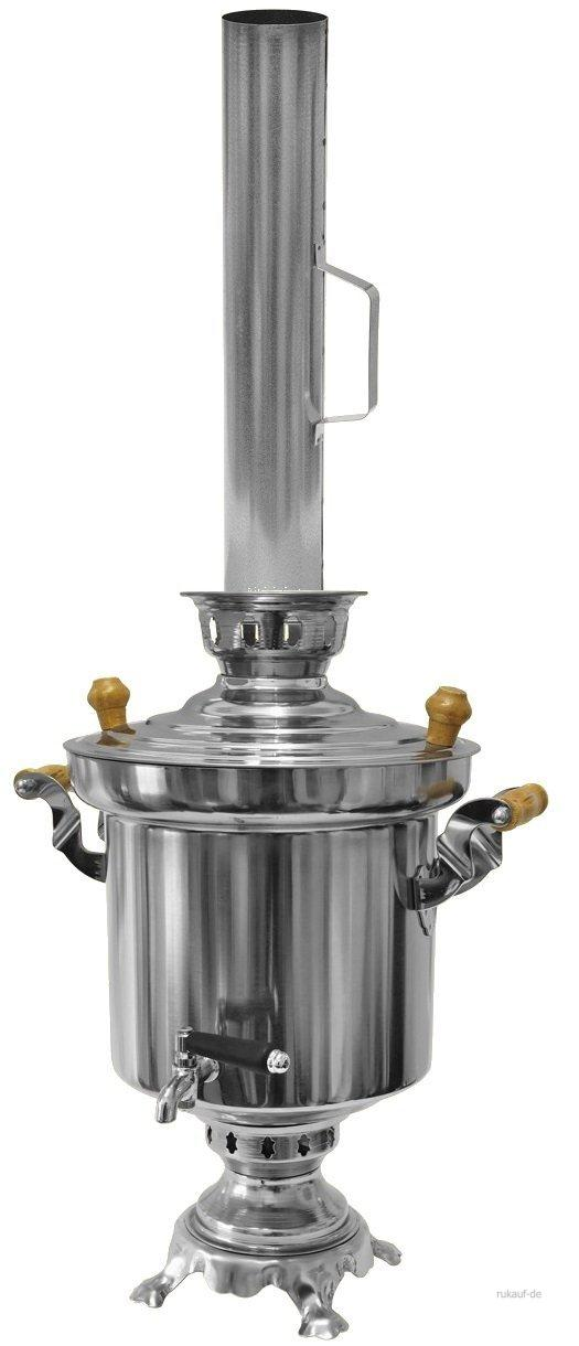 russischer holzkohle samowar samovar 5liter edelstahl 1 2 mm t rkischer tee ebay. Black Bedroom Furniture Sets. Home Design Ideas