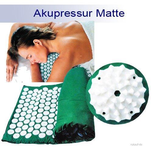 Yoga acupression acupuncture mat mat shanti iplikator ongles mat 65x39 vert ebay - Tapis d acupression shanti ...