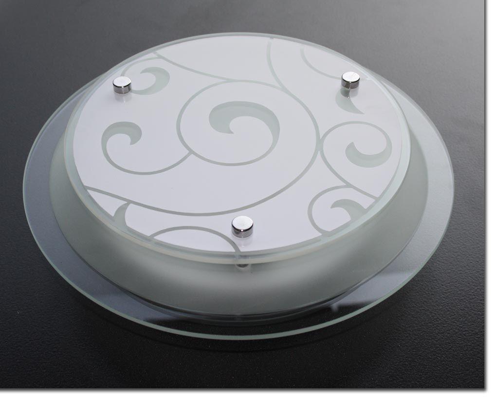 deckenleuchte gabi rund moderne glas lampe einflammig e27 ebay. Black Bedroom Furniture Sets. Home Design Ideas