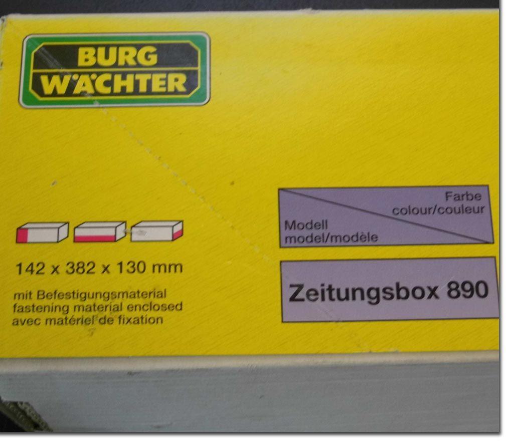 burg w chter zeitungsbox 38x13x14cm briefkasten wei briefbox zeitung box ebay. Black Bedroom Furniture Sets. Home Design Ideas