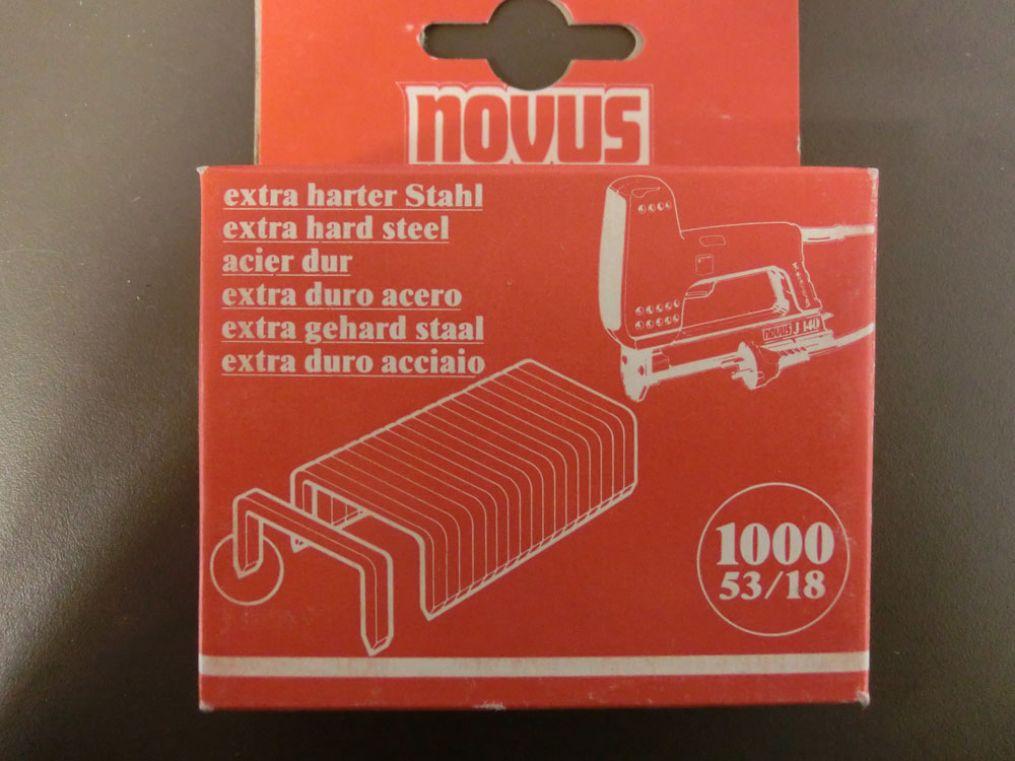 tackerklammern novus typ 53 18 1000 stk 18 mm tacker klammer 042 0125 klammern ebay. Black Bedroom Furniture Sets. Home Design Ideas