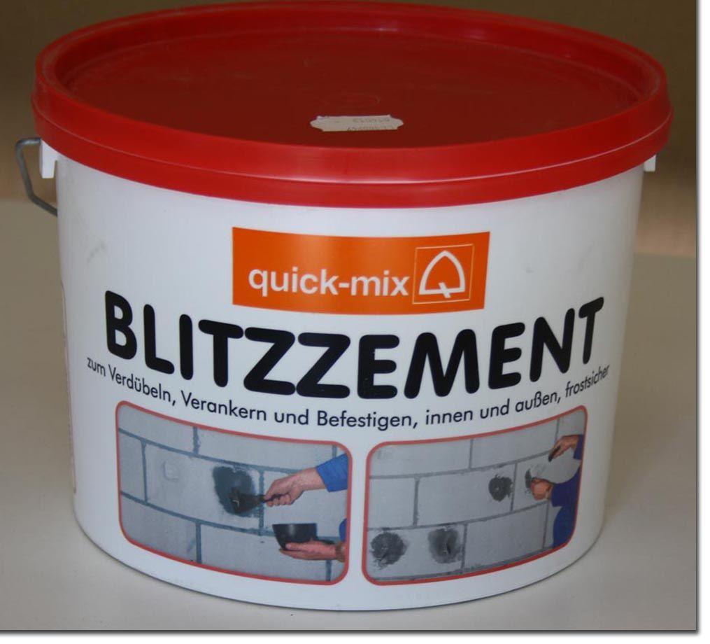 quick mix blitzzement blitz zement 5kg innen aussen frostsicher ebay. Black Bedroom Furniture Sets. Home Design Ideas