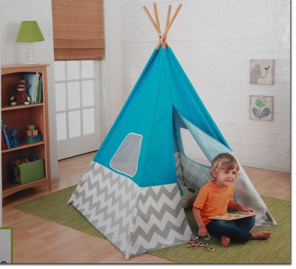 kidkraft spiel tipi t rkis tipizelt zelt spielzelt indianerzelt kinderzelt defe ebay. Black Bedroom Furniture Sets. Home Design Ideas