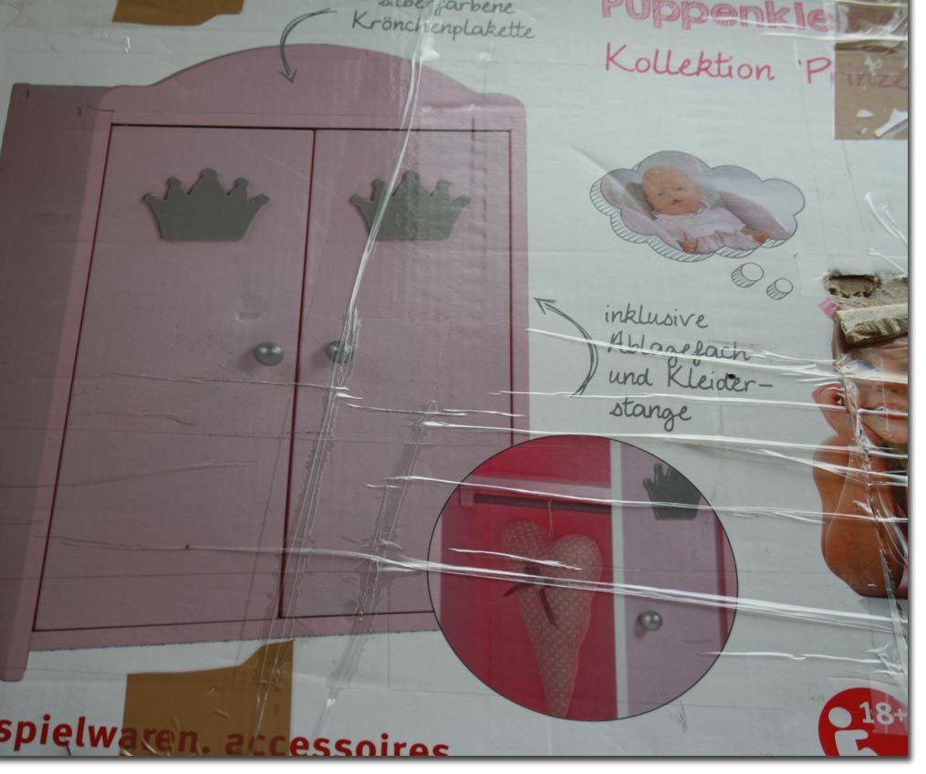 Roba Puppenschrank Prinzessin Sophie Schrank rosa Puppe ...