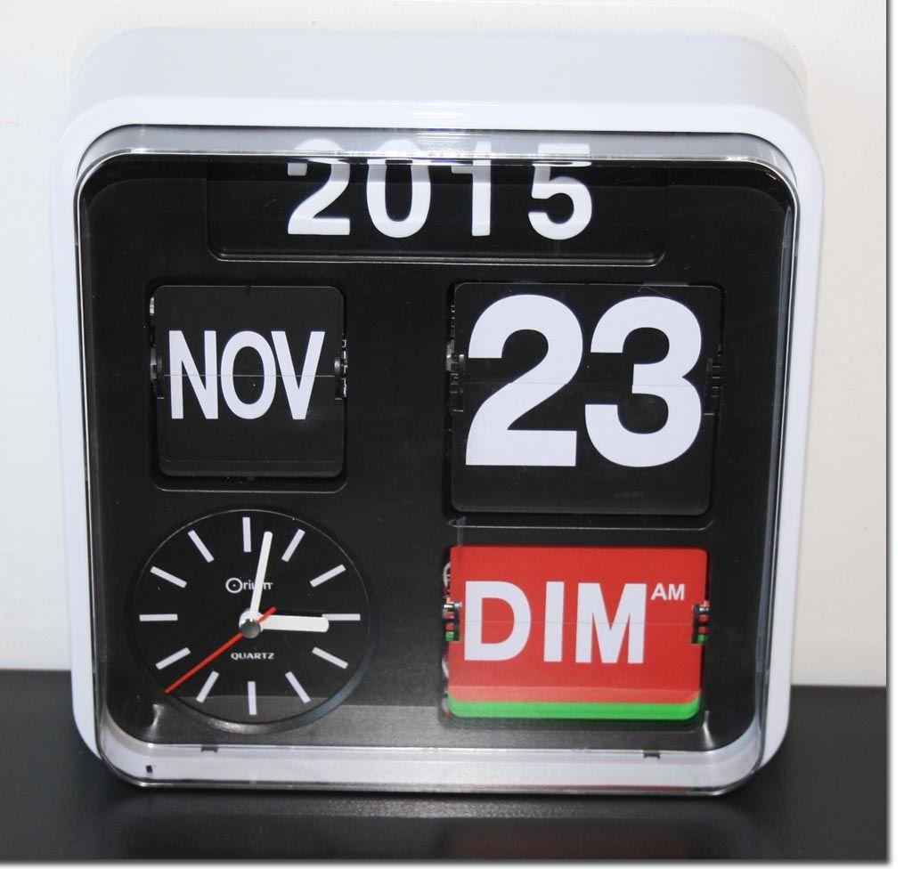 orium horloge calendrier flip flap uhr wanduhr kalender kratzer ebay. Black Bedroom Furniture Sets. Home Design Ideas